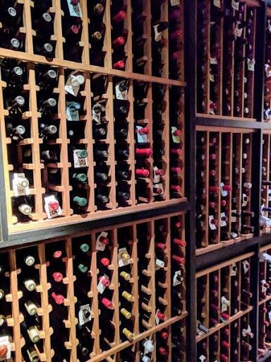 Wine cellar inside Santa Clara hotel restaurant - photo by T.B.