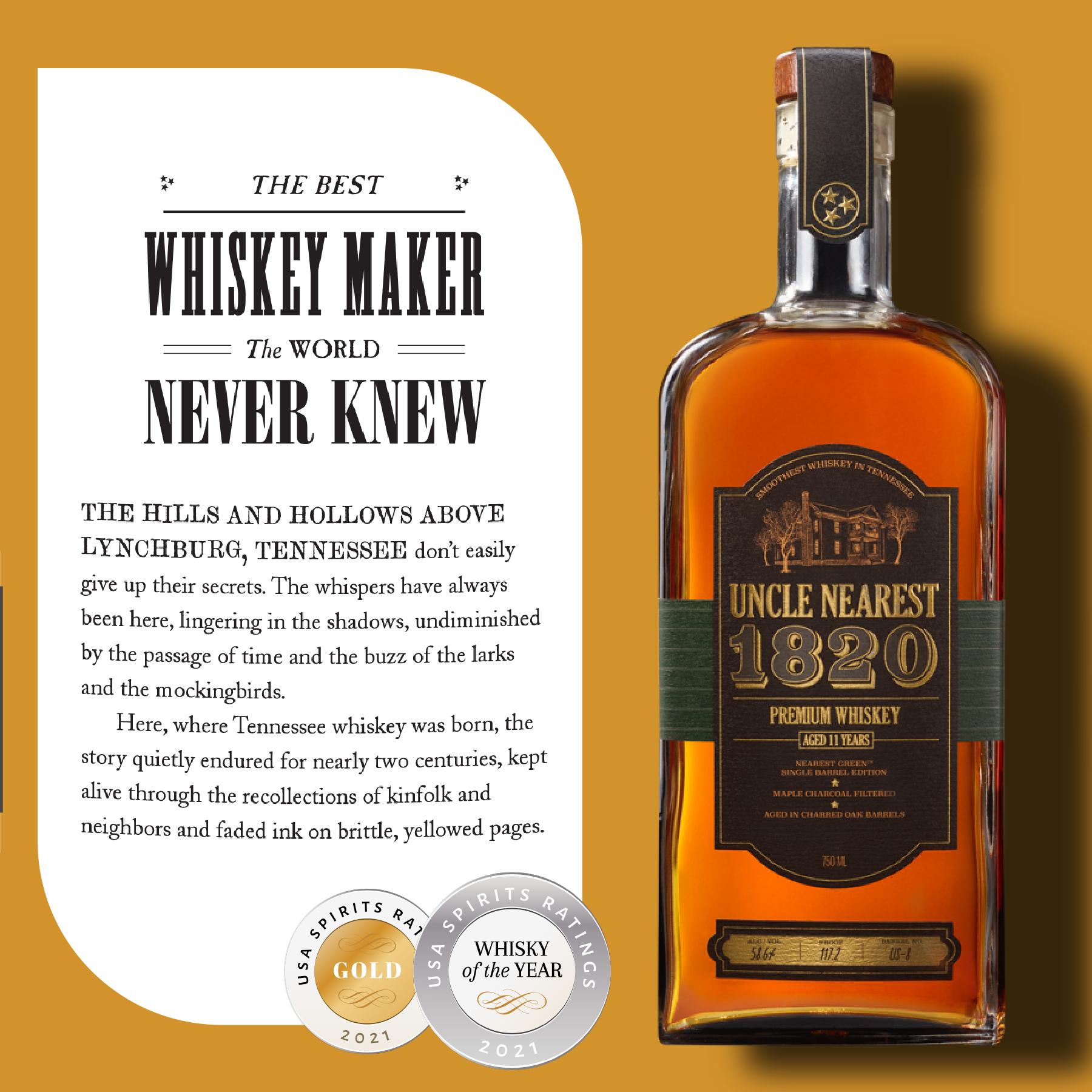 Uncle Nearest 1820 Premium Single Barrel Whiskey - US-53