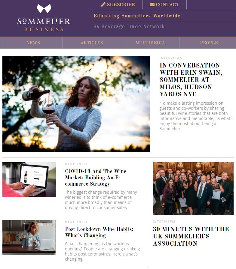 Sommelier Business Webpage