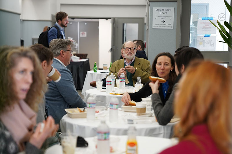 Judges at breakfast for in-person judging